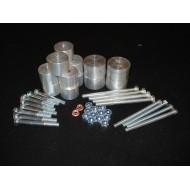 Body Lift +3.8cm - 14 Attacchi Alluminio D-MAX