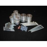 Body Lift +3.8cm - 14 Attacchi Alluminio PICK UP D22