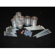 Body Lift +3.8cm - 14 Attacchi Alluminio PICK UP D40