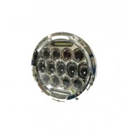 Round Led Turn Chrome 7""
