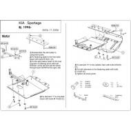 Protezione motore - KIA Sportage in acciaio