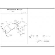 protezione trasmissione e riduttore - Rexton in acciaio