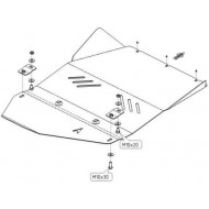 protezione trasmissione e riduttore - ssang yong rexton in acciaio